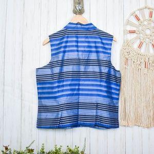 Ann Taylor Tops - Ann Taylor Silk Sleeveless Collared Shirt S22